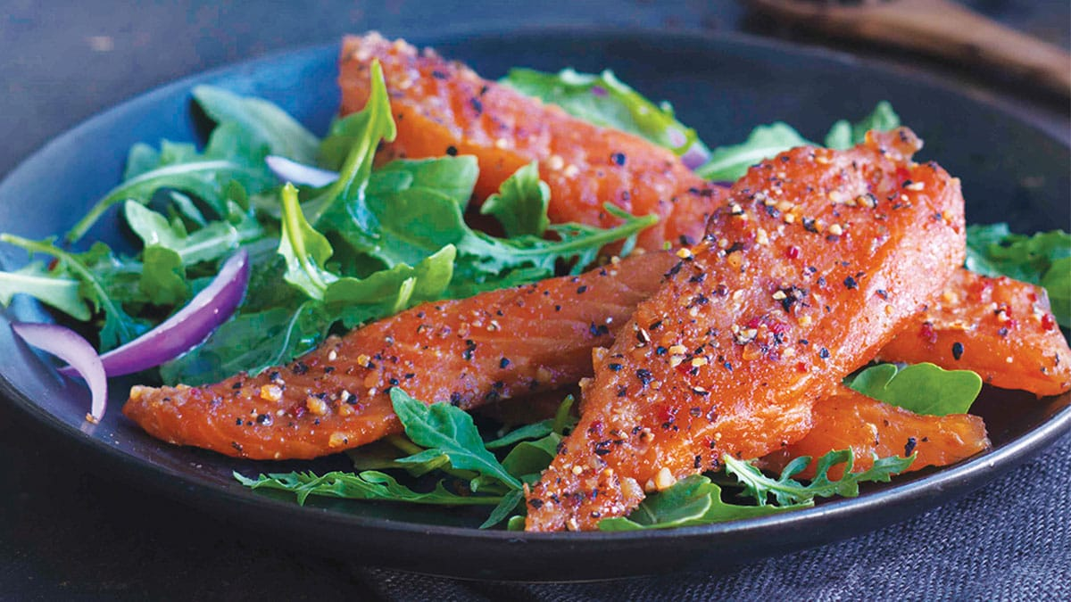 Candied Salmon Garden Salad