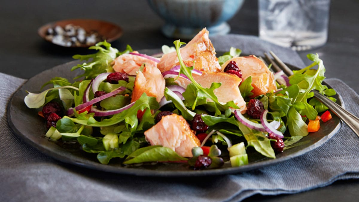 Smoked Salmon Cranberry Salad