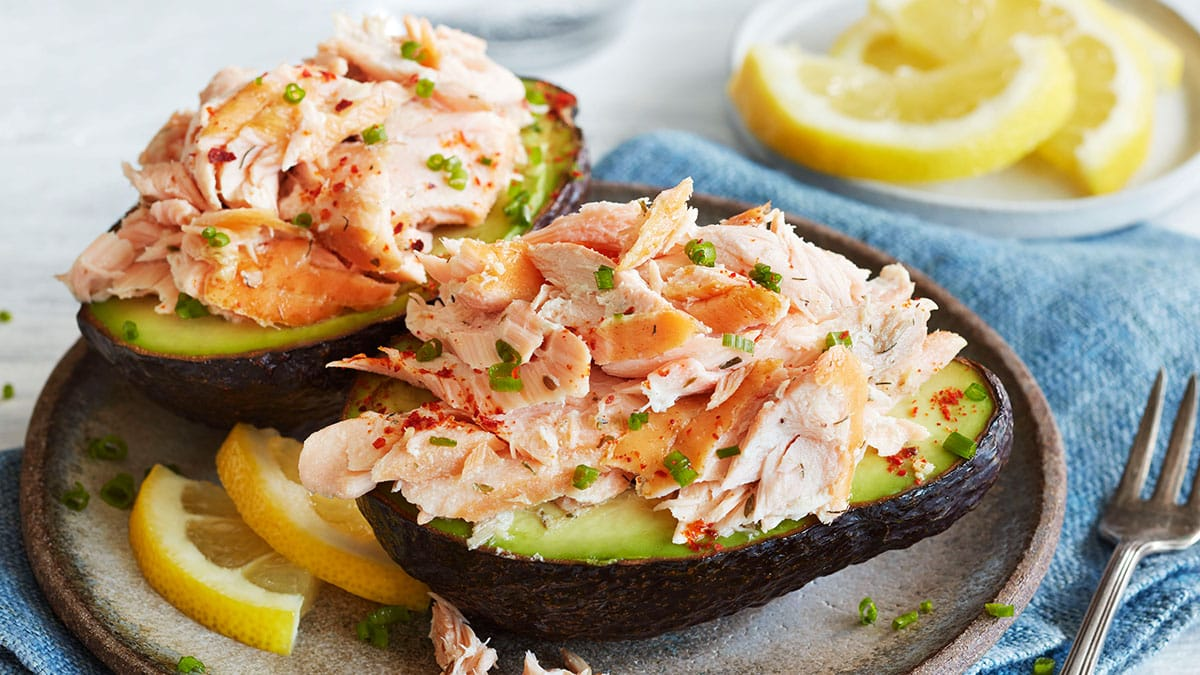 Salmon Topper Stuffed Avocados