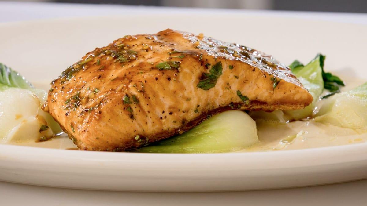 Atlantic Salmon with Hoisin Glaze