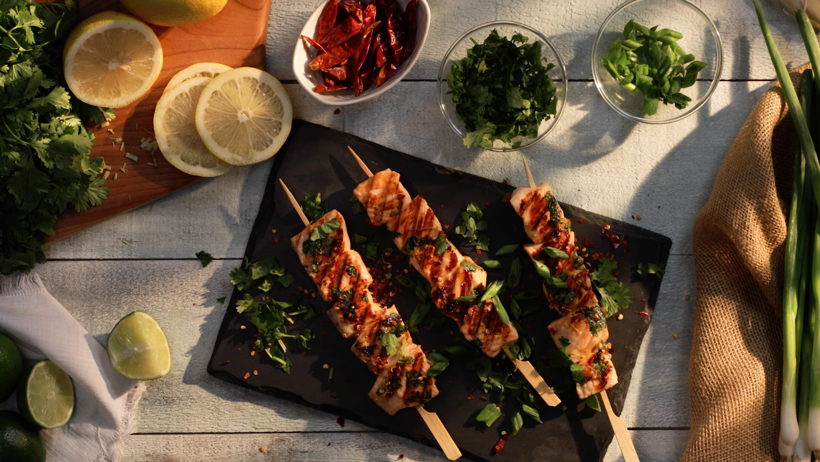 Citrus Salmon Skewers