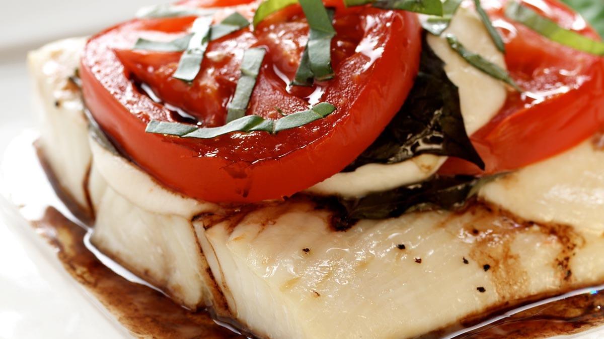 Halibut Caprese Salad