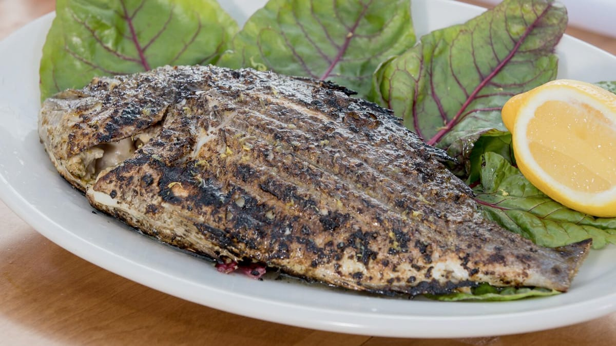 Whole Sea Bream on the Grill
