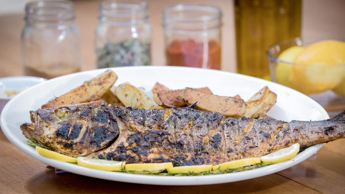 Mediterranean Sea Bass with Charmoula