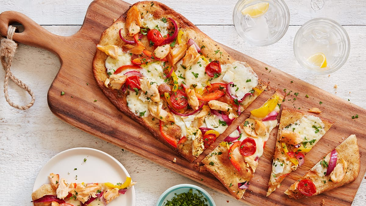 Salmon Toppers Pizza